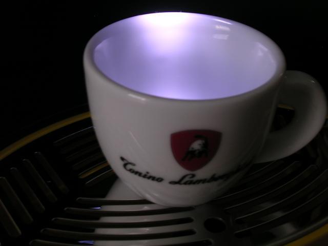 lamborghini opera kapszulás kávégép csészevilágítás