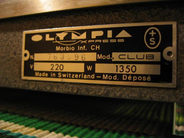 olympia express club karos kávéfőzőgép