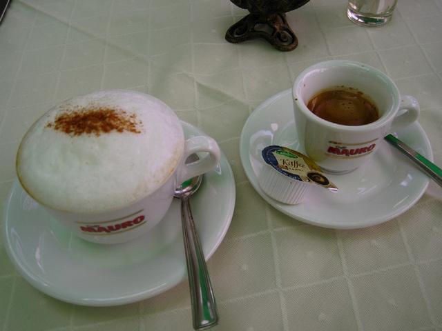 külvárosi kávéház kapucsínó és eszpresszó