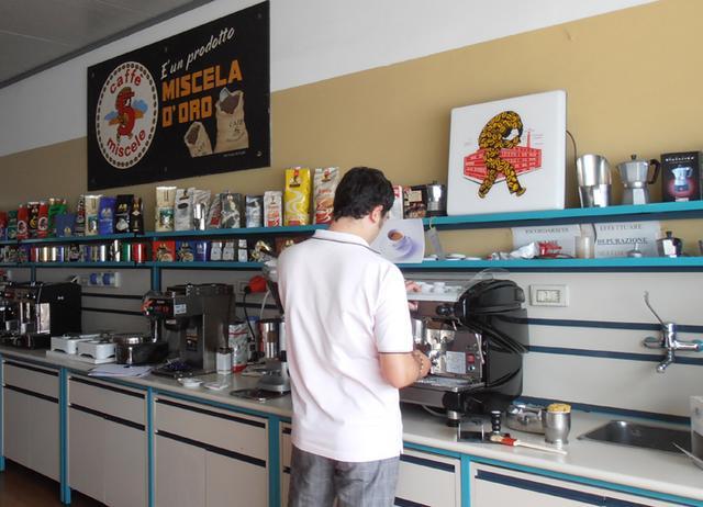 miscela d'oro kávépörkölő labor