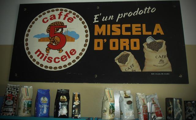 miscela d'oro kávépörkölő régi tábla