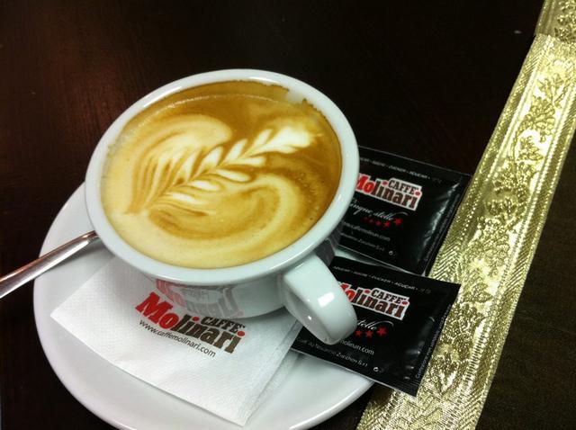 molinari kávézó teszt kapucsínó