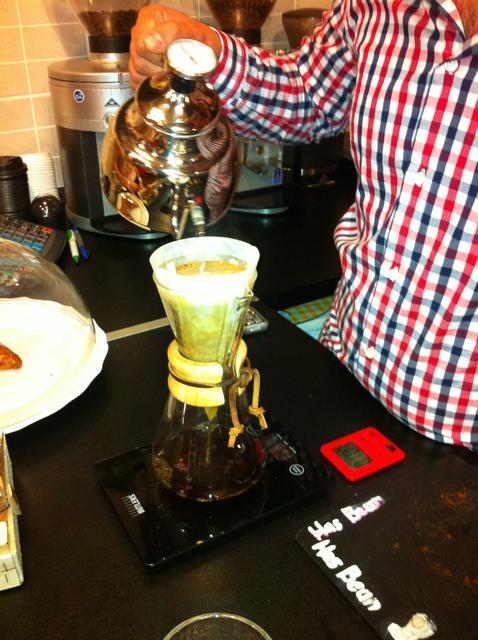 tamp & pull kávékorzó workshop chemex