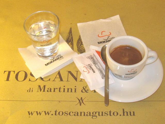 Mokarico espresszó a Toscana Gustóban