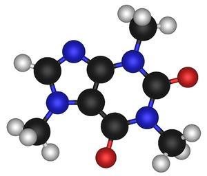 koffein molekula