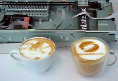 latte art kávényomtató
