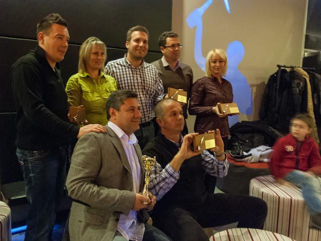 kávékorzó díjátadó 2012 a Pascucci csapat