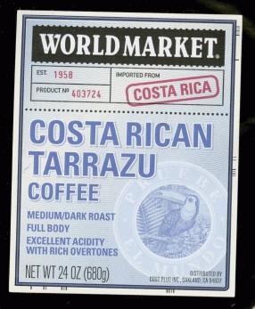 costa rica tarrazu kávé