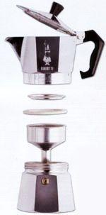 bialetti brikka kávéfőző szétszedve