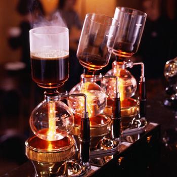 lombik, szifon kávékészítő