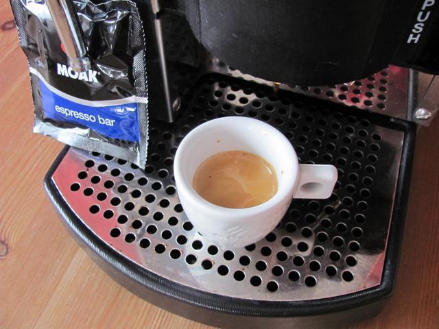 moak espresso bar podos kávé teszt krem