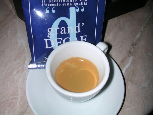 grand decaf podos kávé kávéteszt