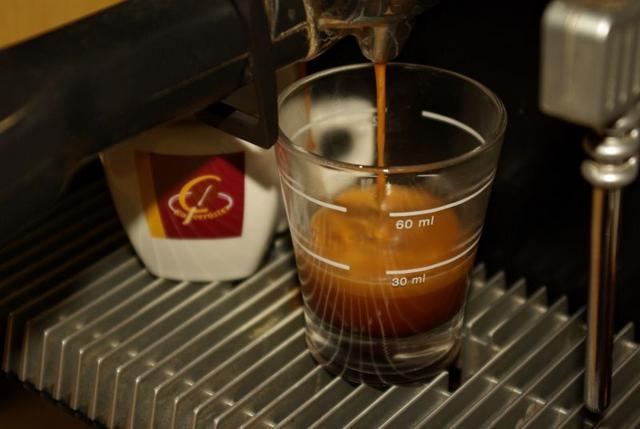 goldschmidt bio espresso kávéteszt csapolás solis