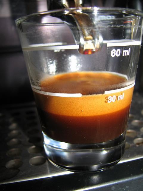 goldschmidt bio espresso kávéteszt shot crema