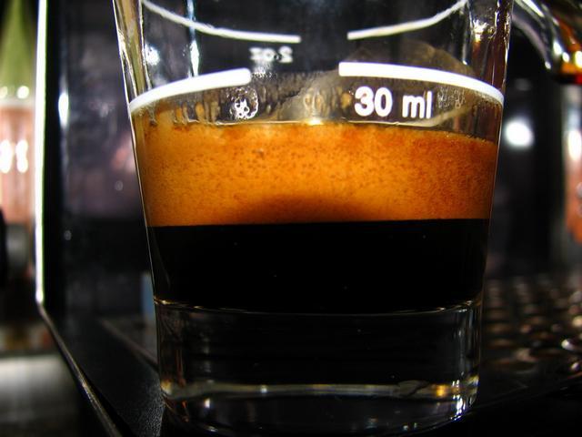 kapuczíner velencei kávé szemes kávé teszt shot krém