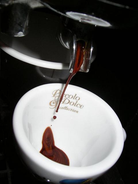 lucaffe piccolo & dolce kávéteszt csapolás faema
