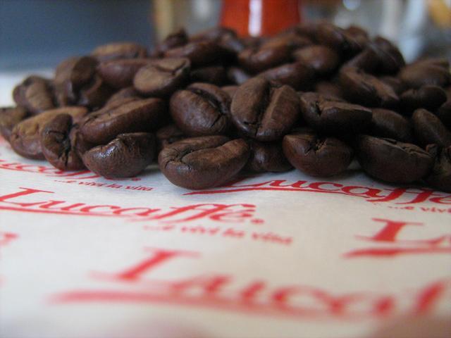 lucaffe piccolo & dolce kávéteszt kávébabok