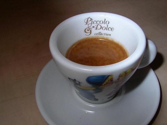 lucaffe piccolo & dolce kávéteszt tigriscsík