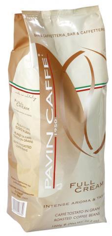 pavin full cream szemes kávé csomagolás