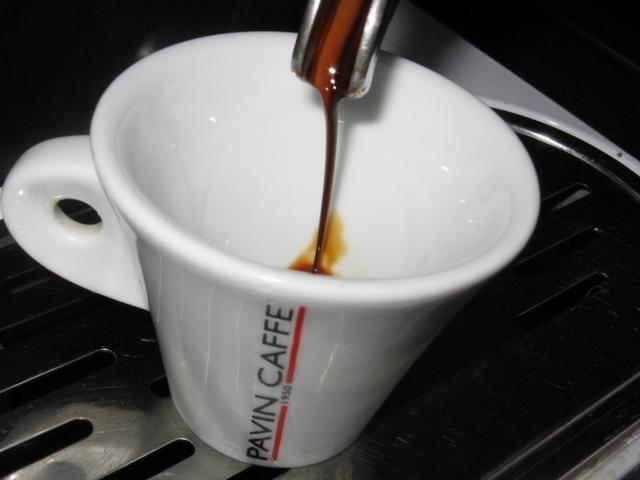 pavin caffé super bar kávéteszt kifolyás