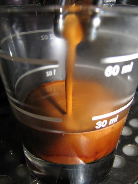 pavin caffé super bar kávéteszt shot csapolás