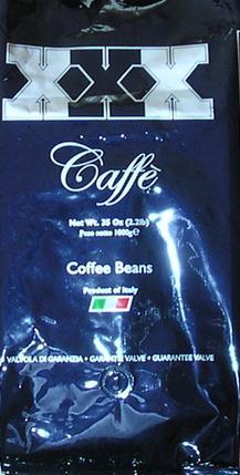 xxx caffé szemeskávé teszt csomagolás