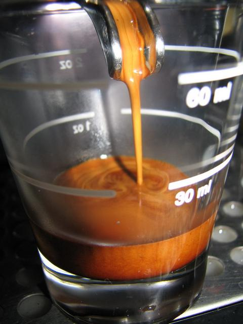 xxx caffé szemeskávé teszt shot