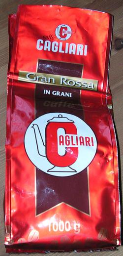 cagliari gran rossa szemeskávé csomagolás
