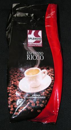 splendid espresso ricco szemeskávé csomagolás
