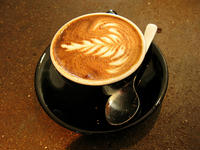 latte art rozetta